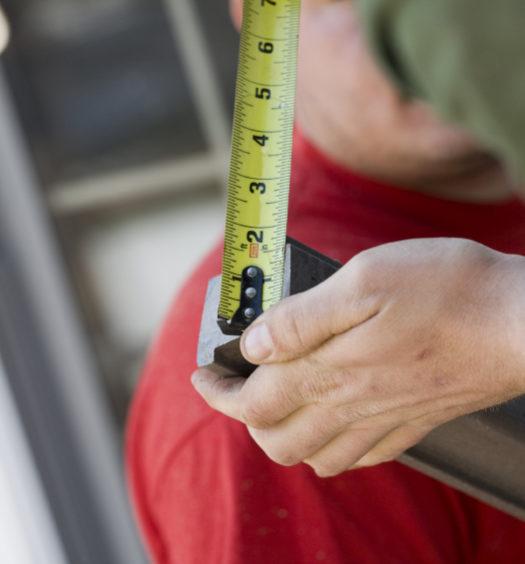 Meter, um sein Haus zu renovieren