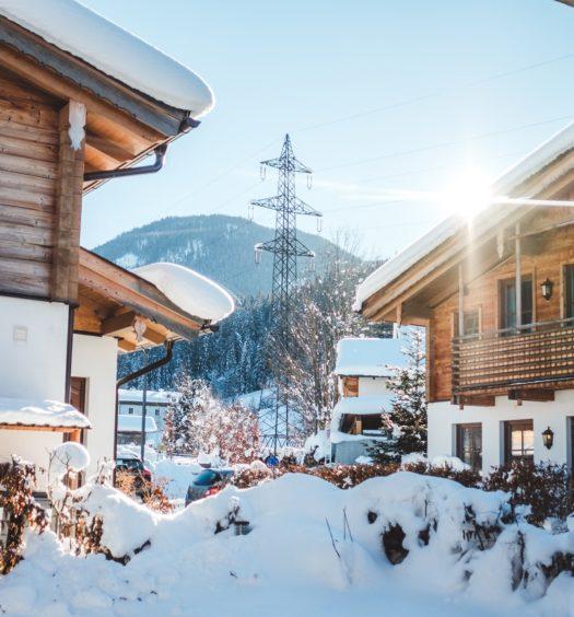 Häuser im Schnee