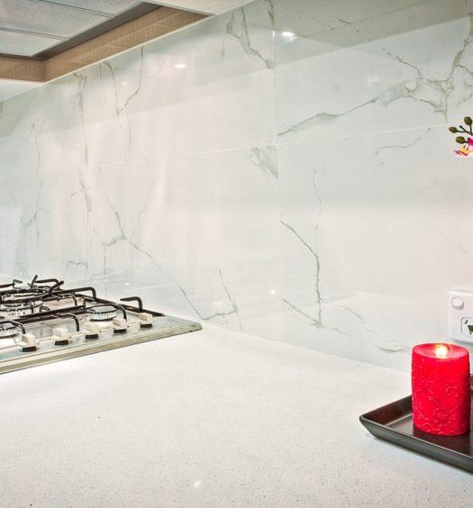 Küche mit Kerzen