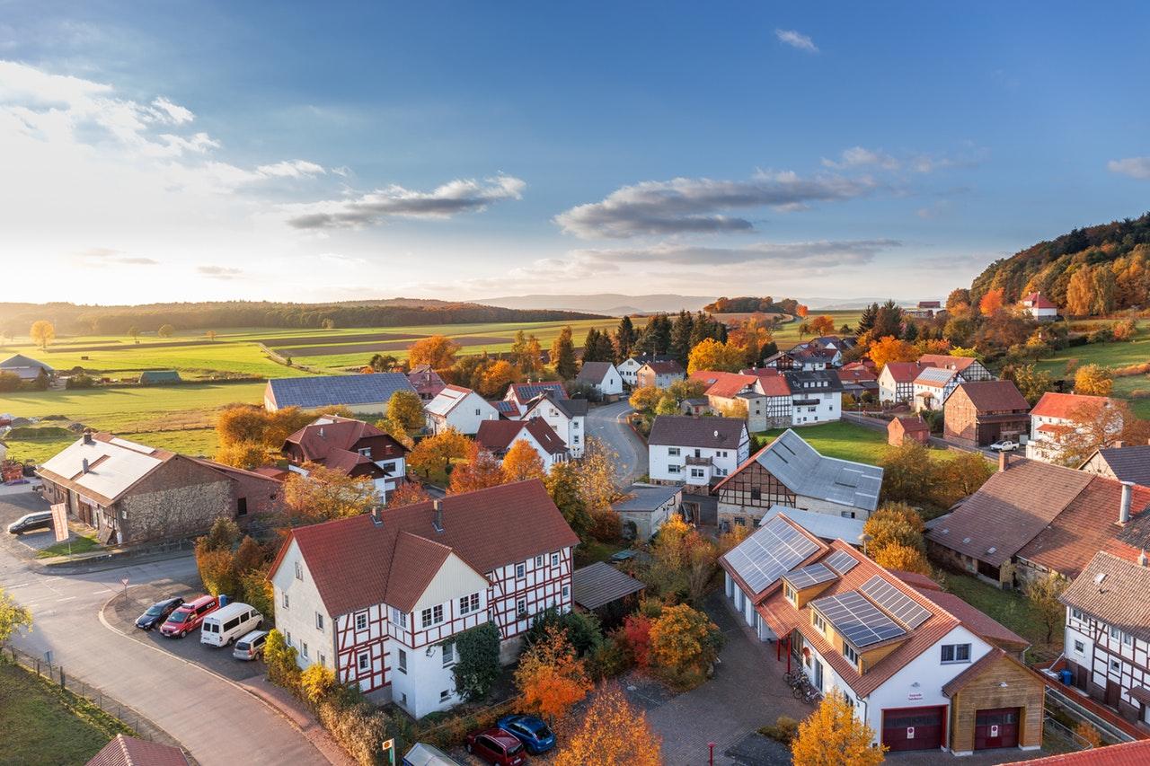 Häuser in einem Dorf