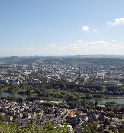 Panoramablick von Trier