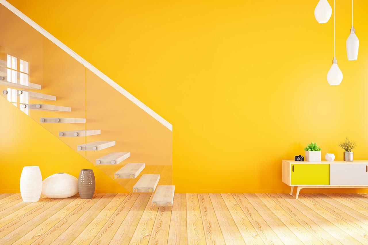 Orangene Wand
