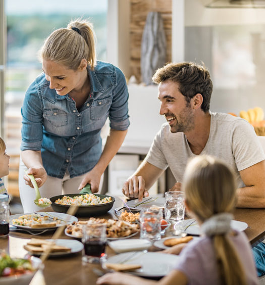 Familie in der Küche