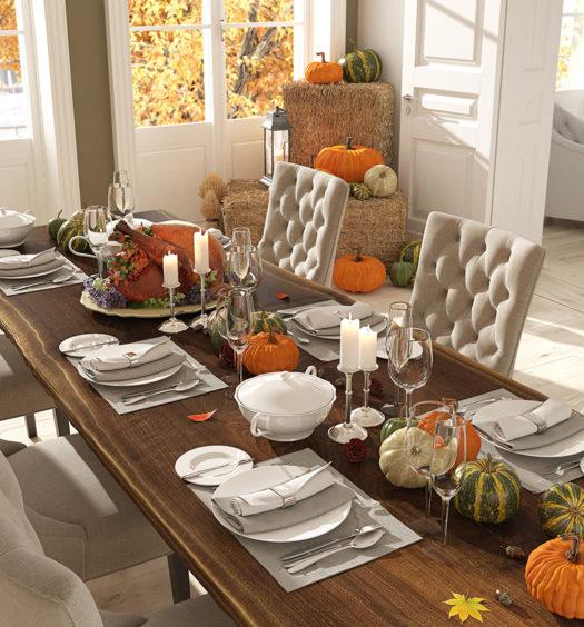 Herbstdeko Tisch