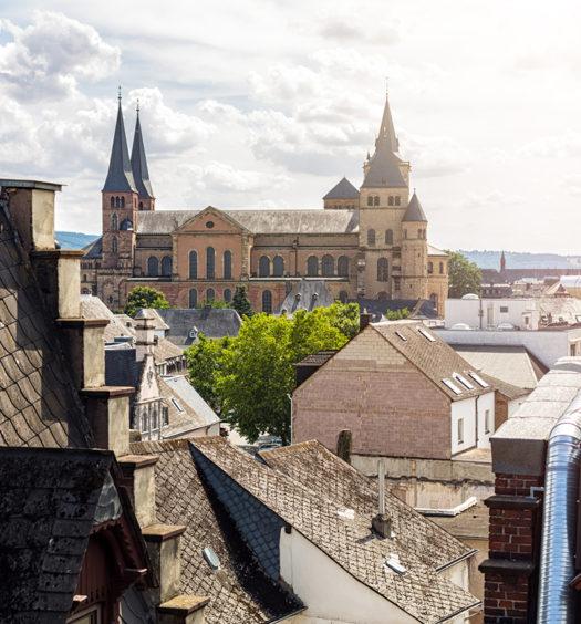 Blick auf den Dom in Trier