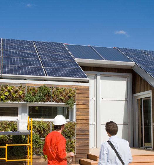 Solarplatten auf einem Haus